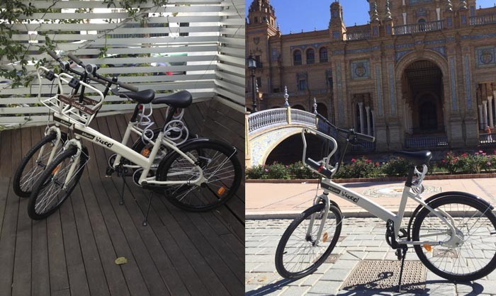 Enjoy Seville by bike, rent one at Holos Boutique Hotel